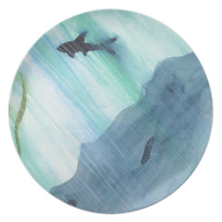 Shark Swimming Dinner Plates
