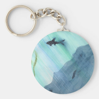 Shark Swimming Keychain