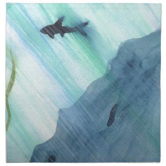 Shark Swimming Napkin