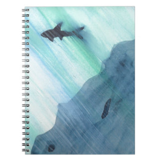 Shark Swimming Spiral Note Book