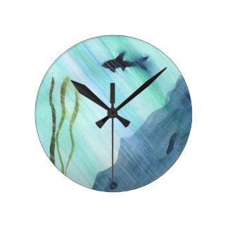 Shark Swimming Wallclocks