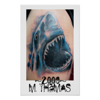 Shark Tattoo Poster