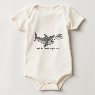 shark the herald angels sing baby bodysuit
