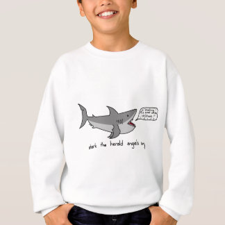 shark the herald angels sing sweatshirt