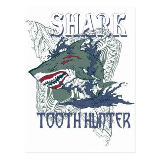 SHARK TOOH HUNTER POSTCARD