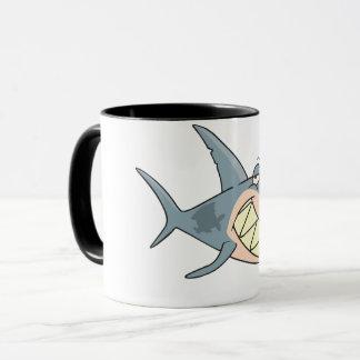 Shark Using a Toothpick Mug