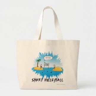 Shark Volleyball Funny Cartoon Canvas Bags