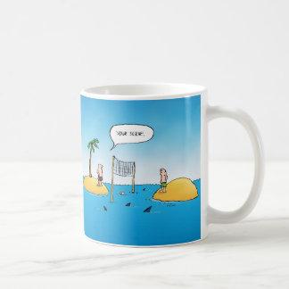 Shark Volleyball Funny Cartoon Classic White Coffee Mug