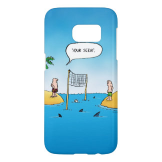 Shark Volleyball Funny Cartoon Samsung Galaxy S7 Case