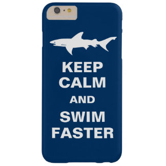 Shark Warning - Keep Calm and Swim Faster Barely There iPhone 6 Plus Case