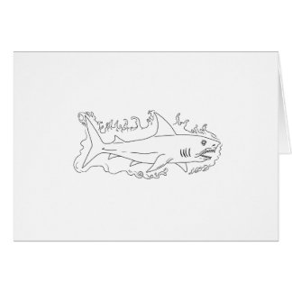 Shark Water Side Drawing Card