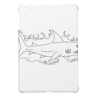 Shark Water Side Drawing Case For The iPad Mini