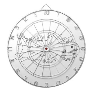 Shark Water Side Drawing Dartboard With Darts
