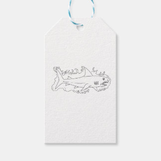 Shark Water Side Drawing Pack Of Gift Tags