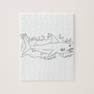 Shark Water Side Drawing Puzzle