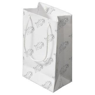Shark Water Side Drawing Small Gift Bag