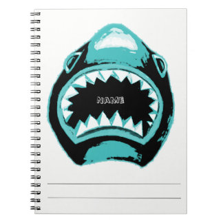 Shark Watercolor Green Illustration Notebooks