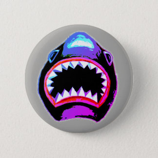 Shark Watercolor Illustration 2 Inch Round Button