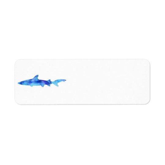 Shark Watercolor Silhouette Dye Teal Blue Aqua