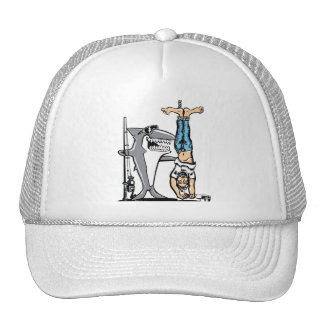 Shark Week Humor -Shark has reeled in a man Trucker Hat