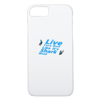 Shark Week  Sharks Funny iPhone 8/7 Case