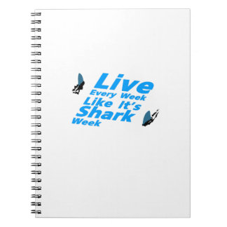 Shark Week  Sharks Funny Spiral Notebook