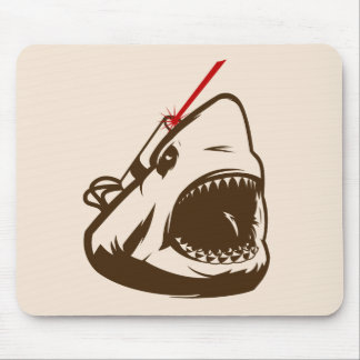 Shark with a Frickin' Laser Beam Mouse Pads