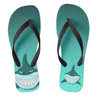 Shark with gradient background flip flops