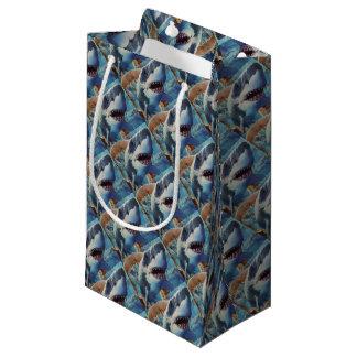 shark wrapping small gift bag