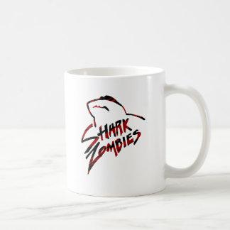 Shark Zombie Sunglasses at Night Classic White Coffee Mug