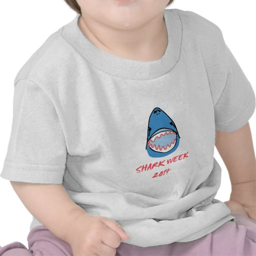 Sharkbite for Shark Week August 10-17 2014 in Blue T Shirts
