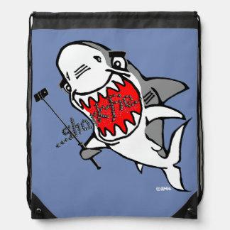 Sharkfie Drawstring Bag