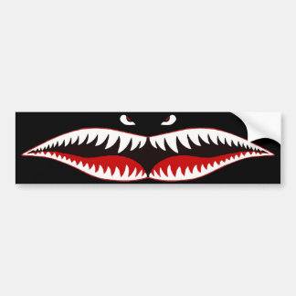 Sharkmouth Bumper Sticker