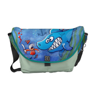 Sharks are Furious, Stop Finning! Courier Bag