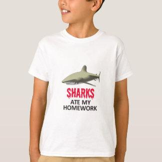 SHARKS ATE MY HOMEWORK T-Shirt