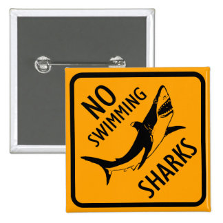 Sharks Australia Sign 2 Inch Square Button