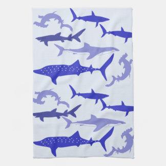 Sharks Blue Kitchen Towel