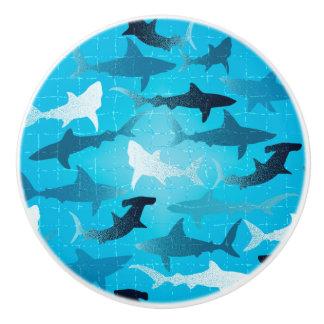 sharks! ceramic knob