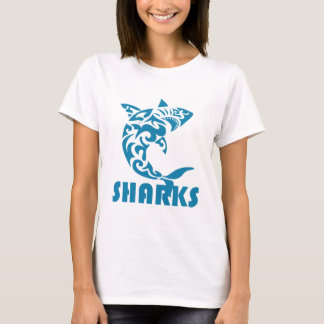 Sharks Contemporary Swirl Design T-Shirt