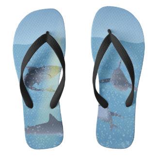 Sharks Flip Flops