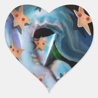 Sharks-Hammerhead Heart Sticker