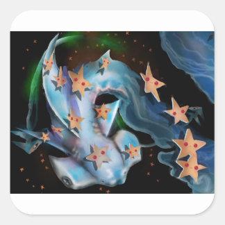 Sharks-Hammerhead Square Sticker