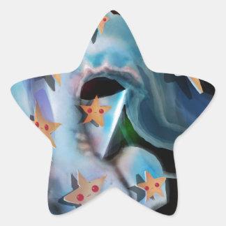 Sharks-Hammerhead Star Sticker
