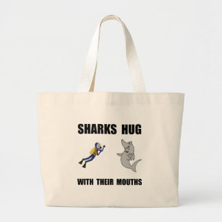 Sharks Hug Large Tote Bag