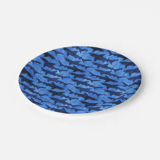 Sharks in the Deep Blue Sea Boys Birthday Paper Plate
