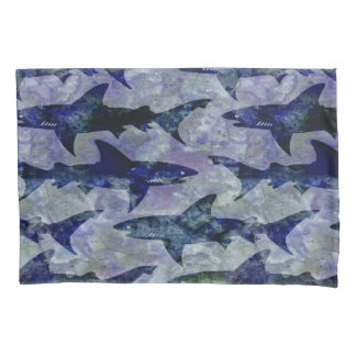 Sharks in the Deep Blue Sea Pattern Pillowcase
