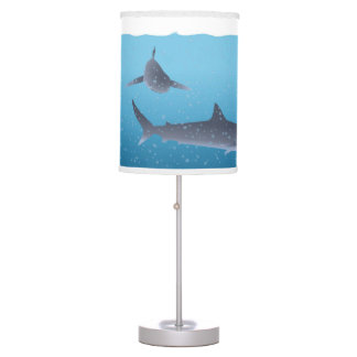 Sharks in Water Table Lamp