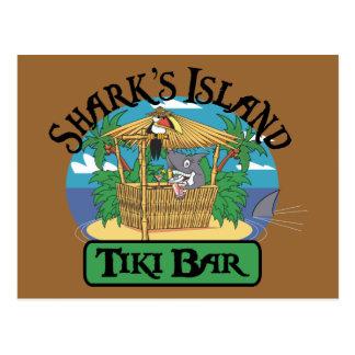 Shark's Island Tiki Bar Postcard