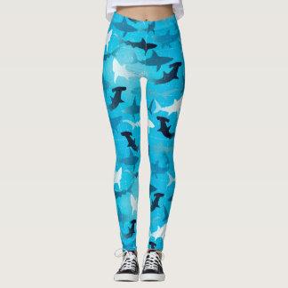 sharks! - leggings