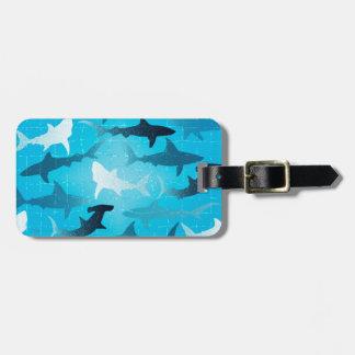 sharks! luggage tag